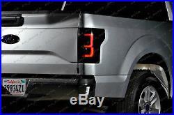 15 16 17 FORD F150 F-150 LED Tail Lights Taillights (BLACK / SMOKE)