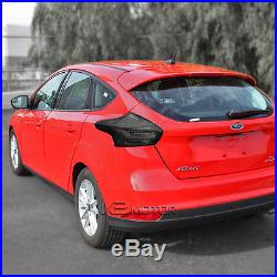 15-16 Ford Focus 5Dr Hatchback Full LED Smoke Tail Lights Brake Lamps Pair