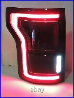 15-20 F150 Smoked Tail Lights LED BLIS Black OEM CUSTOM! Tinted Raptor