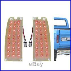 1967-72 Ford Pickup Truck & 1967-77 Bronco LED Tail Light Lamp Panel Insert Pair
