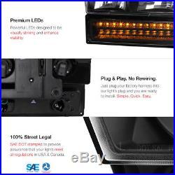 1988-1993 Chevy C/K 1500 2500 Black LED Front Headlights Rear Brake Tail Light