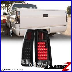 1988-1993 Chevy Silverado C10 CK 1500 2500 Bumper Headlight Black LED Taillight