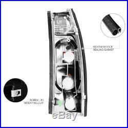 1988-1993 Chevy Silverado C1500 C2500 Smoke Tail Light LED Front Headlight Lamp