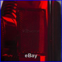 1988-1998 Chevy GMC C10 C/K 1500 2500 Silverado Red LED Rear Brake Tail Lights