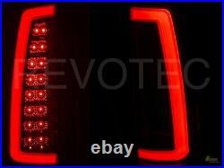 1988-1998 Chevy GMC CK Full Size Pickup Truck Black LED C-Bar Tail Lights 1 Pair