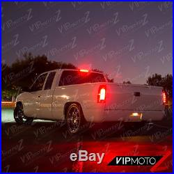 1988-1998 Chevy GMC C/K 1500 2500 3500 CHERRY RED Smoke LED Tail Lights Lamps