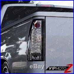1988-1998 Chevy Tahoe Suburban Silverado GMC Sierra Yukon Chrome LED Tail Lights