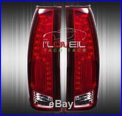 1988-1998 Gmc//Chevy C//K C1500//2500//3500 All Red Lens Led Tail Light Brake Lamps