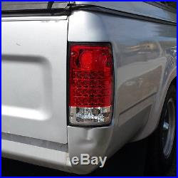1989 1990 1991 1992 1993 1994 1995 Toyota Pickup Red Clear LED Brake Tail Lights