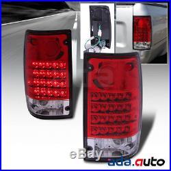1989-1995 Toyota Hilux Pickup SR5 Red Lens LED Tail Lights Rear Lamps Set