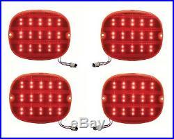 1990-96 Chevy Corvette C4 ZR1 Red LED 1157 Rear Tail Lights Brake Lamp Lens Set
