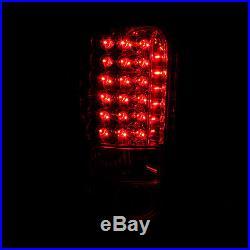 1994-2001 Dodge Ram 1500/1994-2002 Ram 2500 3500 Red Clear LED Brake Tail Lights
