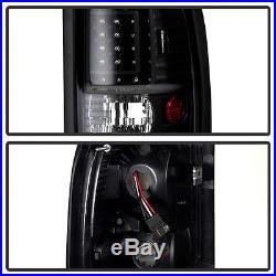 1994-2001 Dodge Ram 1500 2500 3500 Infinity Black LED Brake Signal Tail Lights