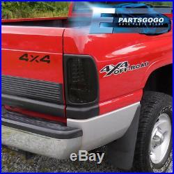 1994-2002 Dodge Ram 1500 2500 3500 Black Housing Led Smoke Lens Tail Lights