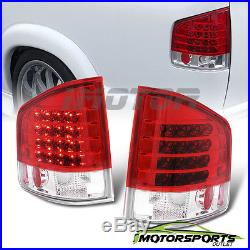 1994-2004 Chevrolet S10/GMC Sonoma/Isuzu Hombre Red Clear LED Tail Lights Pair
