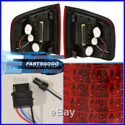 1994-2004 Chevy S10 Sonoma Red Clear Lens Chrome Housing Tail Lights Replacement