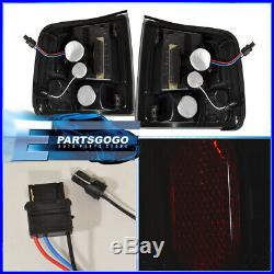 1994-2004 Chevy S10 Sonoma Smoked Lens Red Led Tail Lights Replacement