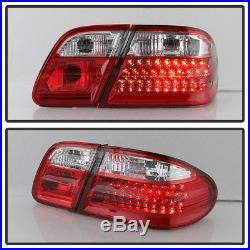 1996-2002 Mercede-Benz W210 E300 E320 E430 E55 Red Clear LED Tail Lights Lamps