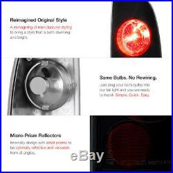 1997-2003 Ford F150 Black LED Halo Projector Headlights Rear Brake Tail Lights