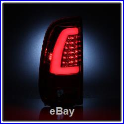 1997-2003 Ford F-150 1999-2007 F-250 F-350 Red LED Light Tube Tail Lights Lamps