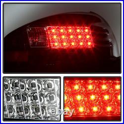 1997-2003 Pontiac Grand Prix Black LED Tail Lights Brake Lamps Pair Left+Right