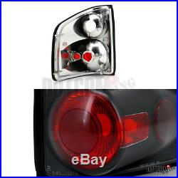 1998-2004 Chevy S10 Black Halo LED Projector Headlights+Bumper Lamps+Tail Lights