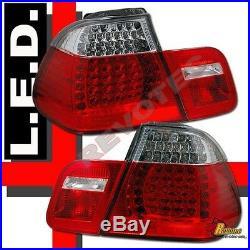 1999 2000 2001 BMW E46 330i 328i 325i 323i 4Dr Sedan LED Tail Lights 1 Pair