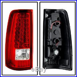 1999-2002 Chevy Silverado 1500 99-06 GMC Sierra Red LED Tail Lights Brake Lamps