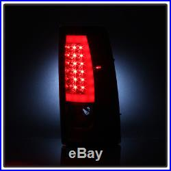 1999-2002 Chevy Silverado 1500 99-06 GMC Sierra Red LED Tube Tail Lights Lamps