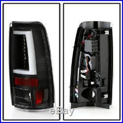 1999-2002 Chevy Silverado 99-06 GMC Sierra Black Edition LED Tube Tail Lights