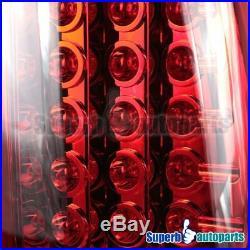 1999-2002 Chevy Silverado/ GMC Sierra 1500 2500 LED Tail Brake Lights Red Lens