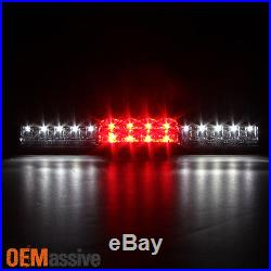 1999-2002 Chevy Silverado GMC Sierra Black LED Tail Lights+3rd Brake Cargo Light