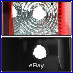 1999-2002 Chevy Silverado GMC Sierra Red LED Tube Tail Lights+LED 3rd Brake Lamp