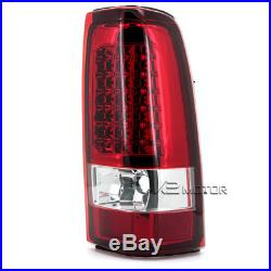 1999-2002 Chevy Silverado LED Tail Lights Lamps Red Set