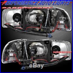 1999-2003 GMC SIERRA DUAL HALO HEADLIGHTS BLACK with LED + BUMPER + TAIL LIGHTS