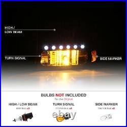 1999-2004 Ford F250 F350 SuperDuty Black LED Signal Headlights Rear Tail Lights