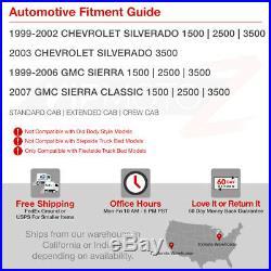 1999-2006 GMC Sierra Smoke FiBeR OpTiC SMD LED Rear Brake Tail Lights Lamp Set