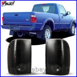 2000-2005 Ford Ranger LED Tail Lights Black Smoke Rear Lamps PAIR