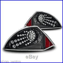 2000-2005 Mitsubishi Eclipse LED Tail Light Black Clear Lens Rear Lamp PAIR