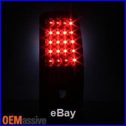 2000-2006 Chevy Suburban Tahoe GMC Yukon XL Black LED Tail Lights Brake Lamp L+R