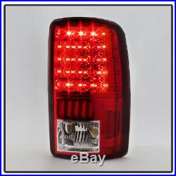 2000-2006 Chevy Suburban Tahoe GMC Yukon XL Red Clear LED Tail Lights Rear Lamps