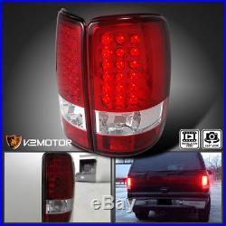 2000-2006 GMC Yukon Denali XL Red Lens LED Tail Lights Brake Lamp