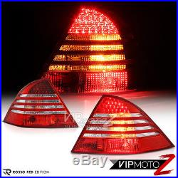 2000-2006 M-Benz S-Class W220 FACTORY STYLE LED Tail Lights Chrome Headlights