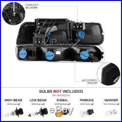 2000-2006 Tahoe Black Parking Headlights Tail Lights Assembly LED Driving Fog