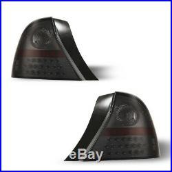 2001-2003 Honda Civic LED Tail Lights 2DR Coupe Black Smoke Lens Rear Lamps PAIR