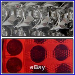 2002-2005 BMW E46 320i 325i 330i 3-Series Sedan Red Clear LED Tail Lights 02-05