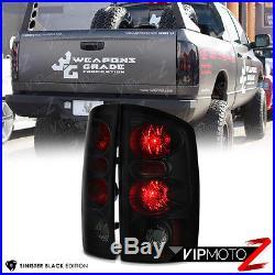 2002-2005 Dodge Ram 1500 2500 3500 Smoke LED Third Brake Tail Lights Headlights