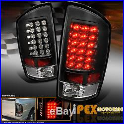 2002-2005 Dodge Ram 1500 2500 Halo Projector Headlights + LED Tail Lights Black