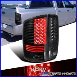 2002-2006 Dodge Ram 1500 2500 3500 Black Clear LED Tail Lights Rear Lamps Pair