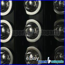 2002-2006 Dodge Ram 1500 2500 3500 LED Tail Lights Brake Lamp Glossy Black